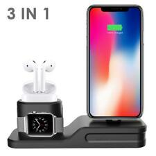 3 in1 Charging Dock Station Holder Stand For Apple Watch AirPod iPhone X 8 7 UK