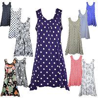New Womens Ladies Sexy Summer Beach Party Sleeveless Mini Dress Top Plus size
