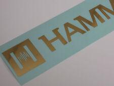 Orgue hammond dealer sticker autocollant, or lettrage, soutien clair 40cm, authentique