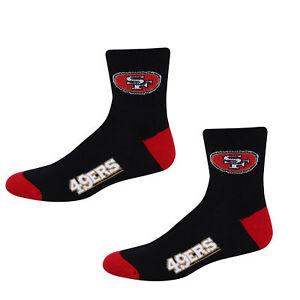 Football San Francisco 49ers Socks 501 Quarter Length Large Size Men 10-13 Shoe