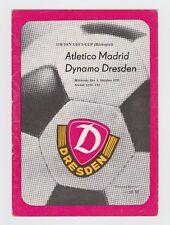 Orig.PRG   UEFA Cup  1979/80   DYNAMO DRESDEN - ATLETICO MADRID  !!  SELTEN