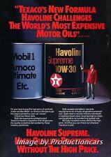 1985 Bob Hope and Texaco Oil Original Advertisement Print Art Car Ad J674