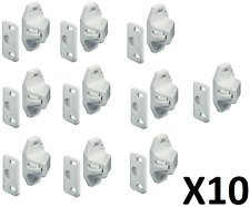 10 x WHITE Roller Catches For Caravan Motorhome Boat Cupboard Door Catch Locker