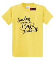 Sundays Are For Jesus & Football Funny T Shirt Religious Country Tee S-5XL