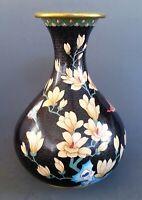 "Large vintage Chinese cloisonne  vase 12"" tall"