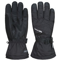 Trespass Reunited II Mens Ski Gloves With Adjustable Wrist Strap in Black