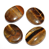 Natural Tigers Eye Palm Stone Golden Rock Crystal Healing Reiki Polished Worry