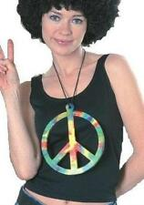Big Peace Symbol 70s Hippie Make Love Not War Necklace