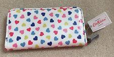 CATH KIDSTON ZIP AROUND WALLET/PURSE Cream Confetti Hearts O/C Gift Bag BNWT