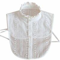 Women Lace Collar Detachable Lapel Choker Necklace Shirt Fake False Collar
