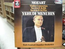 MOZART LP Violin Concertos 4 in D, 6 in D  MENUHIN  EMI