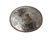 MONTANA SILVERSMITHS Silver Plated Western Belt Buckle Roper