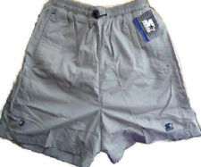 Mens Starter Shorts Barcelona Silver Size Small 24 Inch Waist Drawcord