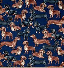 "NEW Dachshunds Navy Dog Puppy Breeds Valance Curtain 42""W x 13""L"