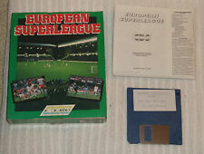 AMIGA (VINTAGE) COMPUTING GAME  *** EUROPEAN SUPER-LEAGUE ***  BOXED
