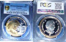 CANADA  2008 S$1 Quebec City Gold Plated, DCAM -POPULATION 8 -HIGHEST PCGS