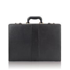 Briefcase Attache Bag Business Portfolio Men Handbag Hard Case Lock Leather Like
