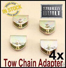 4x Chain Adapter G70 Tow Chain Ratchet Tie Down Straps FlatBed Truck Car Axle 2""