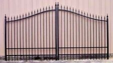 Custom Built Driveway Entry Gate 11 Ft Wide Single Swing, Fencing, Handrails.