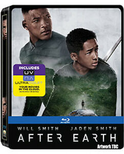 AFTER EARTH STEELBOOK BLU-RAY [UK] NEW BLURAY