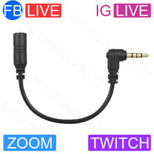3.5mm TRS to TRRS DJ Live Streaming Mic Adaptor Cable iPhone/Android like SC4 UK