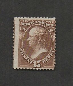 US #O79, Daniel Webster, unused, average centering, with perfs in at right.