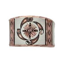 Solid Copper Ring Southwest 4 Elements Silver Plated Handmade Western Jewelry