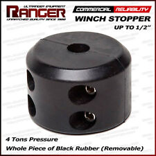 """Ranger Removable Rubber Winch Stopper Line Saver for Up to 1/2"""" Rope or Cable"""