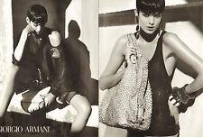 Publicité 2008 (double page)  GIORGIO ARMANI collection vetement sac à main