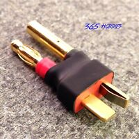 Male Deans to Female 4.0mm Bullet HXT Connector Adapter Lipo 4mm 4.0 mm 4 LiPo