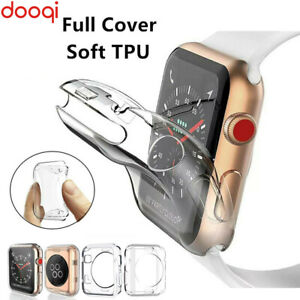 For Apple Watch Series 6 5 4 3 2 1 SE 38 42 40 mm 44mm iWatch Soft TPU Full Case
