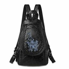 Women Backpack Ladies Light Travel Small Bag Soft Washed Leather PU Comfortable