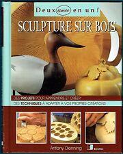 Sculpture sur Bois, 2 livres en 1, Projets & Fiches Techniques, Denning Eyrolles