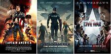 Captain America Civil War Trilogy Movie Posters (Set of 3) Avengers 11x17 13x19