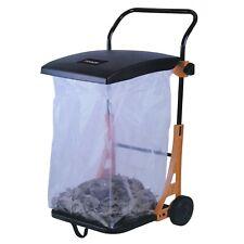 Carrello raccoglitore 80l lt da giardino porta rifiuti sacco pattumiera trespolo