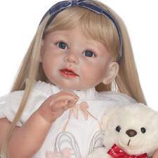 """Reborn Kleinkind Silikon Mädchen Blonde Haare 29 """"Kinder tragen Modell Puppe Pop"""