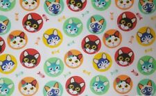 *SALE* 1 metre of PASTEL CUTE CATS,100% COTTON FABRIC,Sewing,PATCHWORK,Craft,NEW
