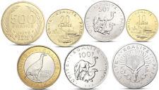 DJIBOUTI 7 COINS SET 5 - 500 FRANCS ANIMALS CAMEL SHIP BIMETAL 1997 2013 UNC