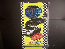 Rare Sealed NASCAR Maxx Race Cards 1991 Pack 15 Cards Earnhardt? Petty? Wallace?