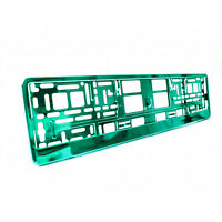 2 x Turquoise Metallic Universal ABS Number Plate Surrounds Holders Frames M
