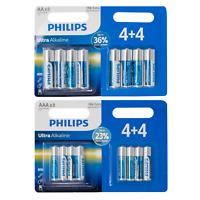 PHILIPS AA AAA BATTERIES Ultra Power Alkaline Battery Long Life | PACK OF 8
