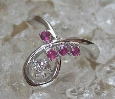 Rubine in aus 14k 585 Gold ☻4 Gramm Ring Diamant mit Brillant Rubin Ruby Diamond
