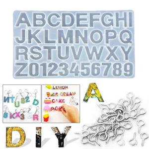 Epoxidharz Formen Buchstaben Zahlen Gießform Silikonform DIY Schmuck Basteln
