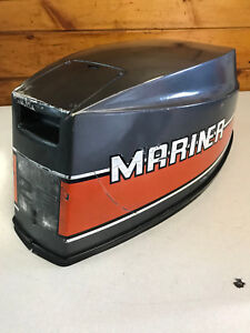 1989 Mariner 25 HP Outboard Hood Top Cowl Cowling Shroud Freshwater MN
