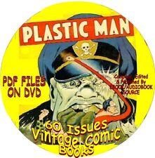 Plastc Man Superhero Vintage Comic Books - 60 Issues - Pdf Files - On Dvd