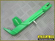 Area 22 Kawasaki Pro Z125 / Z125 2016 - 2017 CNC Aluminum Side Kick Stand Green