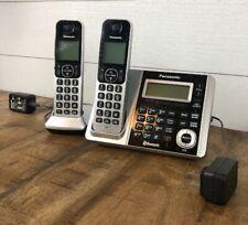 Panasonic KX-TGF370 Bluetooth Cordless Phone Base Unit  2 Handsets And Chargers