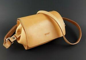 Original BREE Small Barrel Butterscotch Leather Shoulder Crossbody Purse Bag