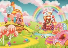 Photo Background for Baby Studio Rainbow Photography Backdrops Vinyl 7x5FT JP81