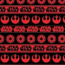 Camelot Cottons Star Wars II 73010108 2 Black Red Rebel & Imperial Logos